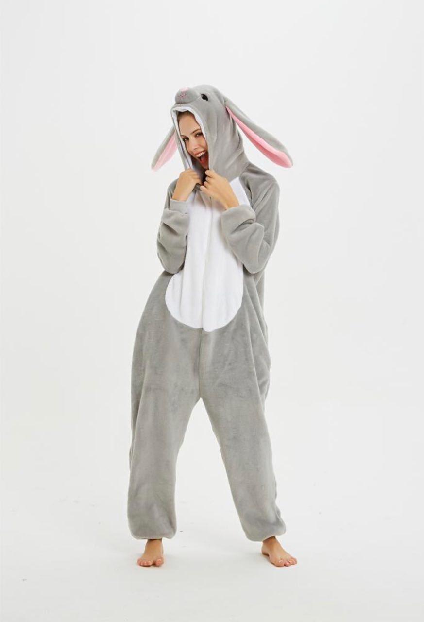 Женские кигуруми заяц серый mur0125