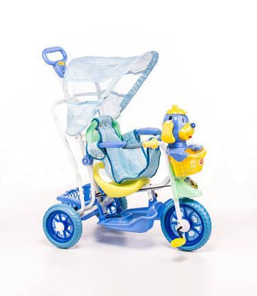 Трехколесный велосипед для детей Собачка,голубая, фото 2