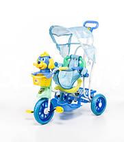 Трехколесный велосипед для детей Собачка,голубая, фото 3