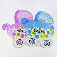 Шарик фольгированный Коляска  Baby Girl C 31790 (60) 2 вида /ЦЕНА ЗА УПАКОВКУ/ 50 шт в упаковке одного вида