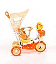 Трехколесный велосипед для детей Собачка,оранжевая, фото 3