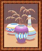 Схема для полной вышивки бисером - Натюрморт из трех ваз, Арт. НБп2-1