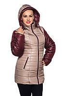 Куртка женская зимняя двухцветная., фото 1