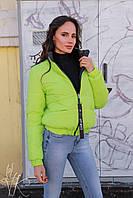 Женская короткая демисезонная куртка на молнии 60mku156, фото 1