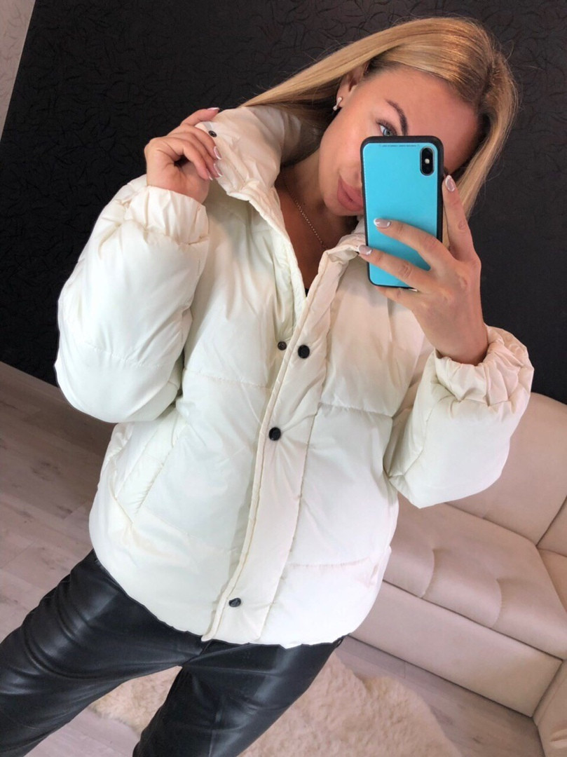 Зимняя женская куртка с воротником - стойкой 16mku160, фото 1