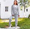 Женский вязаный брючный костюм с кардиганом 40mko270