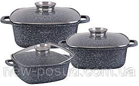 Набор посуды Edenberg с мраморным покрытием из 6 предметов EB-8030