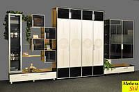 Стенка для гостиной с подъемной шкаф-кроватью с ДСП фасадами, фото 1
