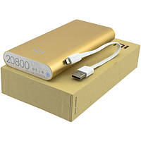 Power bank  Xiaomi 20800 mAh, Gold, 1xUSB, 5V/2.1A, кабель USB <-> microUSB