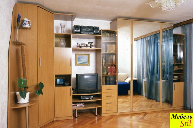 Стенка в спальню со шкафом-кроватью, фото 1