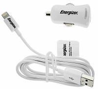 АВТОМОБИЛЬНОЕ ЗАРЯДНОЕ УСТРОЙСТВО ENERGIZER DC1UHIP2, APPLE, IPHONE/IPAD 30-PIN, БЕЛЫЙ, 2.1А, 1 USB, 1 МЕТР