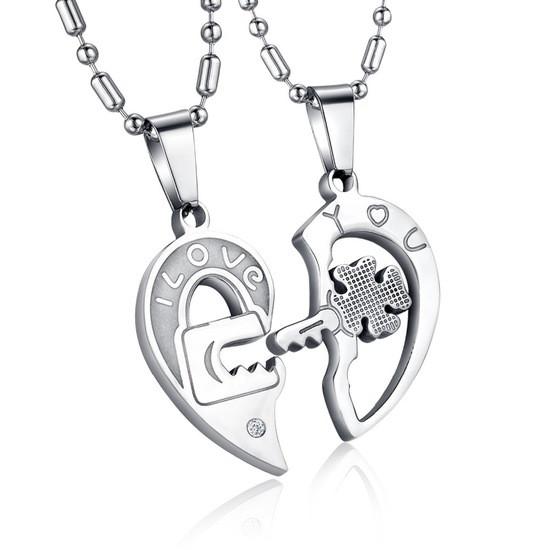 """Парные кулоны для влюбленных в виде сердца """"Хранители Верности"""""""