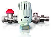 """Комплект термостатический угловой Herz 1/2 Project (головка М28-1,5+терм.кл.TS90V + запорный клапан RL1, 1/2"""")"""