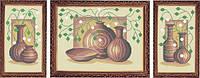 Набор для полной вышивки бисером - Триптих натюрморт из ваз, Арт. МКп-1