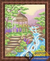 Набор для полной вышивки бисером - Беседка у ручья, Арт. ПБп3-1