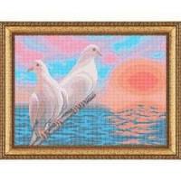 Набор для полной вышивки бисером - Голуби на закате, Арт. ЖБп3-41