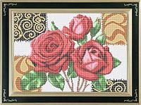 Набор для полной вышивки бисером - Букет роз, Арт. НБп3-6-1