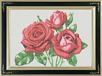 Набор для полной вышивки бисером - Три розы, Арт. НБп3-6-2