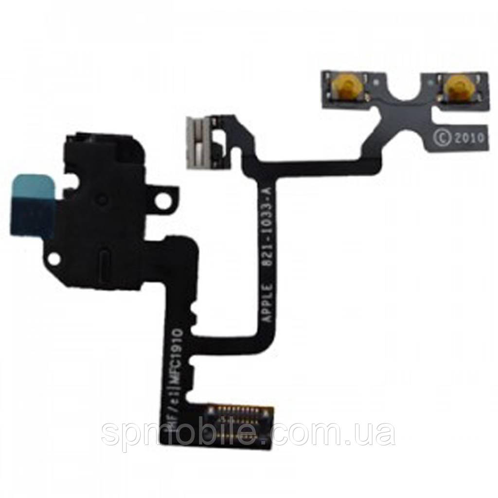 Шлейф Apple iPhone 4G. коннектора гарнітури білий