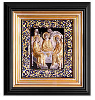 Икона Святая Троицас частичкой Мамврийского дуба 27х25х4 см San 190