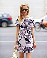 Короткое платье с цветами