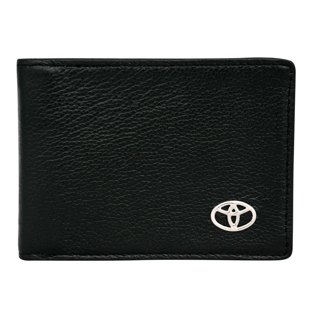 Кожаный бумажник двойного сложения с эмблемой TOYOTA