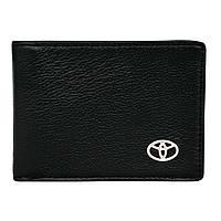 Кожаный бумажник двойного сложения с эмблемой TOYOTA, фото 1