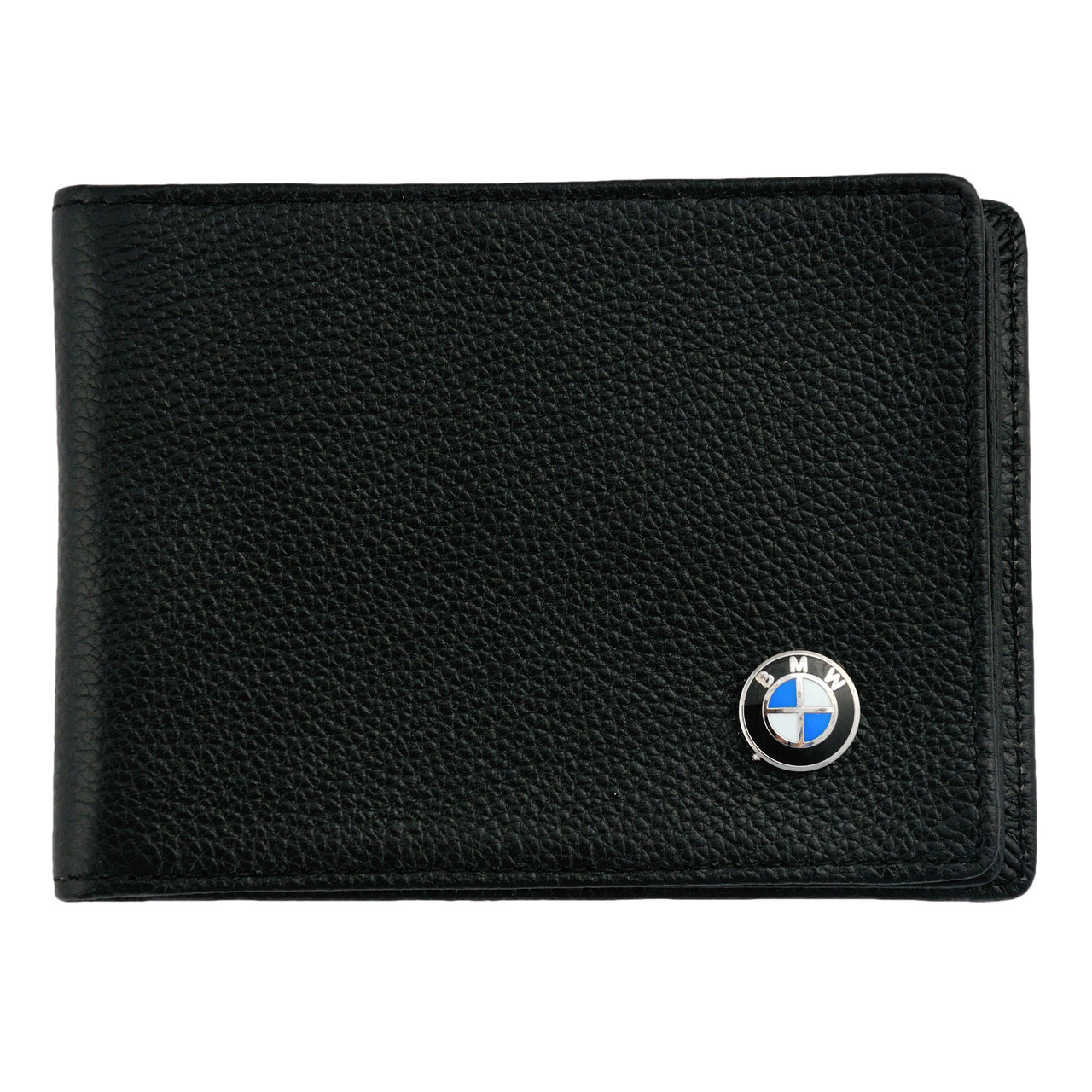 Кожаный бумажник двойного сложения с эмблемой BMW