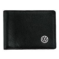 Кожаный бумажник двойного сложения с эмблемой VOLKSWAGEN, фото 1