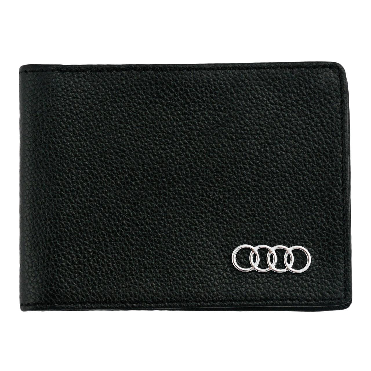 Кожаный бумажник двойного сложения с эмблемой AUDI
