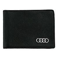 Кожаный бумажник двойного сложения с эмблемой AUDI, фото 1