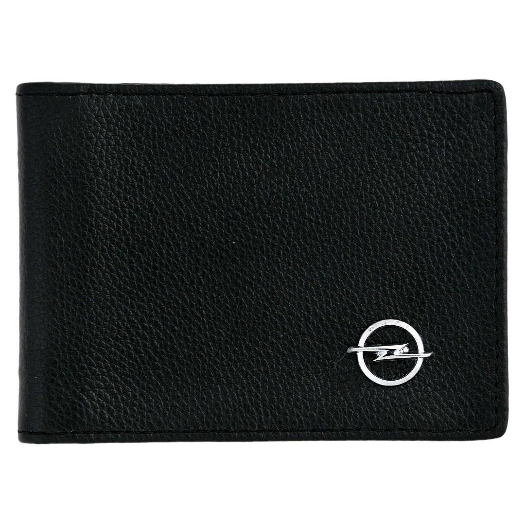 Кожаный бумажник двойного сложения с эмблемой OPEL