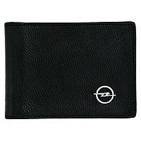 Кожаный бумажник двойного сложения с эмблемой OPEL, фото 1