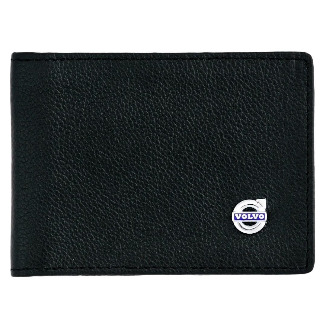Кожаный бумажник двойного сложения с эмблемой VOLVO