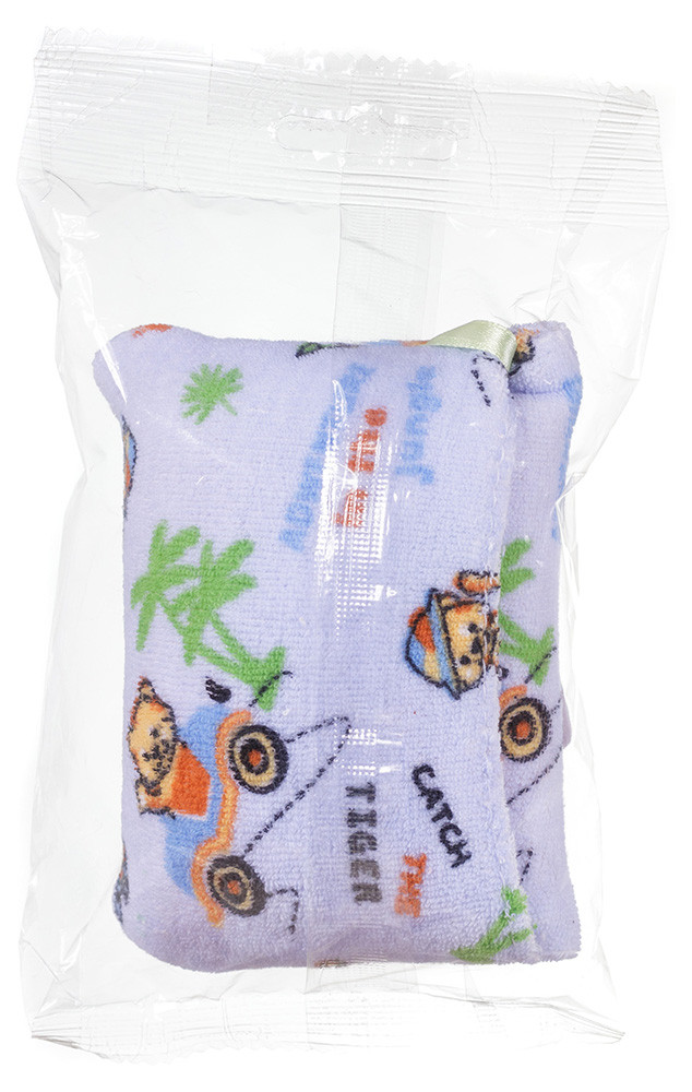Для купания Badum Губка махровая с кармашком для мыла  голубая