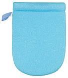Для купания Badum Рукавичка махровая с губкой  бирюзовая, фото 2