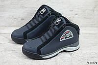 Мужские кожаные зимние кроссовки Fila (Реплика) (Код: F2 син/з  ) ►Размеры [40,41,42,43,44,45], фото 1