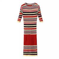 Теплое платье двух цветов