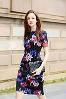 Яркое платье цветочный принт