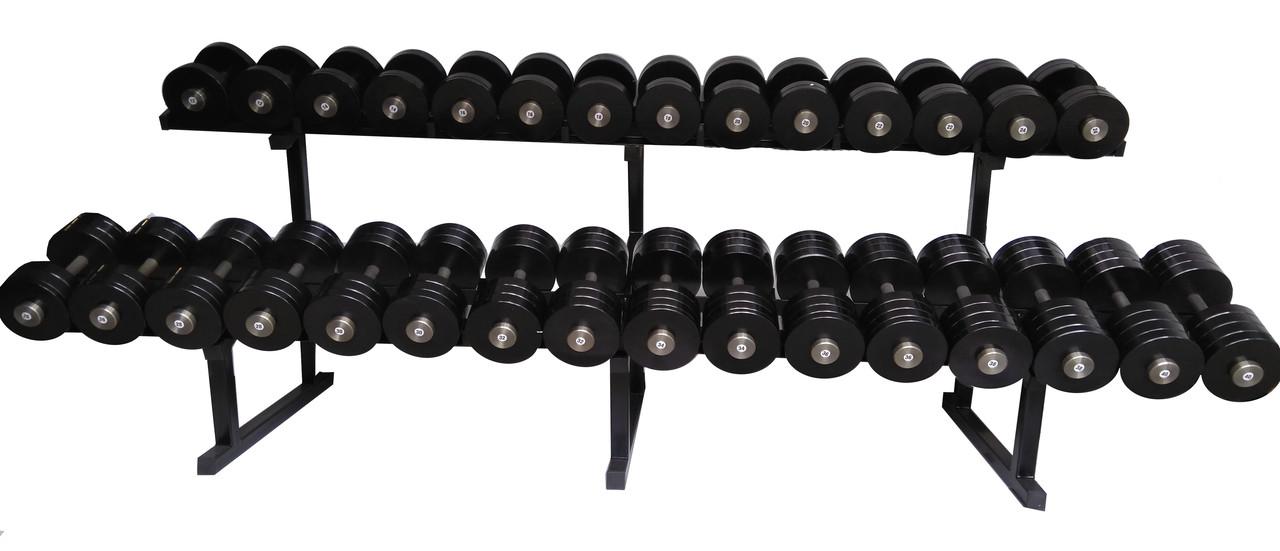 Гантельний ряд від 12 до 30 кг зі стійкою в комплекті