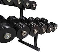 Гантельний ряд від 12 до 30 кг зі стійкою в комплекті, фото 2