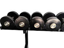 Гантельний ряд від 12 до 30 кг зі стійкою в комплекті, фото 3