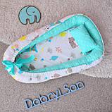 Позиционер - подушка с бортиками  для новорожденных, фото 8