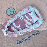 Детское гнездышко - кокон для девочки Единороги, фото 4