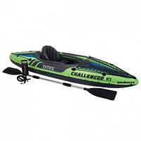 "Надувная лодка - байдарка Intex Challenger K1, 68305 ""Kayak"""
