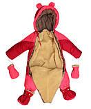 Комбинезон - конверт осень-зима-весна для девочек, фото 3