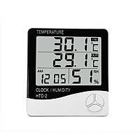 Термометр-гигрометр с внешним датчиком температуры RIAS HTC-2 White (4_725735980), фото 1