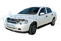 Дефлектор Капота Мухобойка Opel Astra G (С окантовкой решотки)