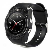Смарт часы наручные мужские с аудиоплеером SMART WATCH V8 черные