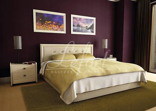 Ліжко двоспальне з мякою спинкою спальню Моніка Lefort